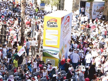 Guinness world record 2016 cereals breakfast weight quantity 1852 people
